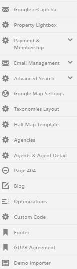 advanced theme settings