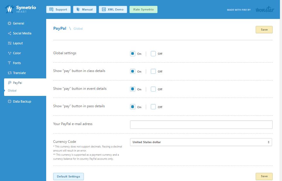 symetrio paypal integration